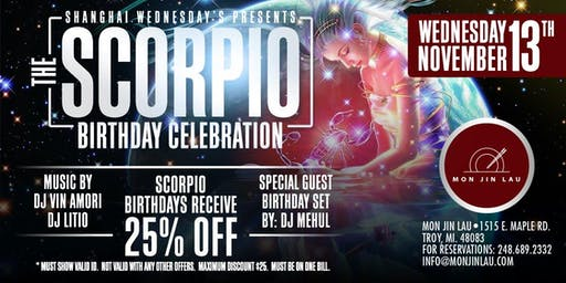 The Scorpio Birthday Celebration at Mon Jin Lau
