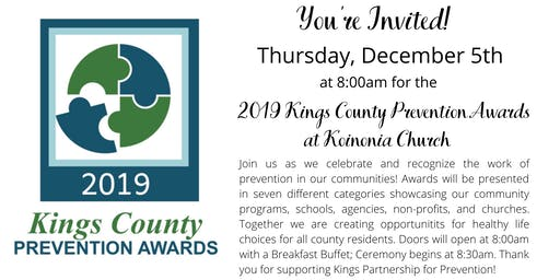 2019 Kings County Prevention Awards
