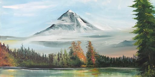 Chill & Paint Night  Auck City Hotel  -  Snowy Mountain - Bob Ross inspired