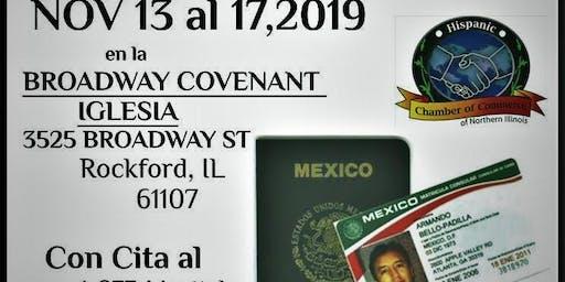 Consulado Móbil de México en Rockford IL