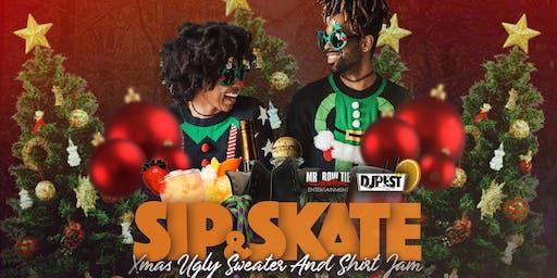 Sip And Skate AZ Xmas Ugly Sweater & Shirt Skate Jam