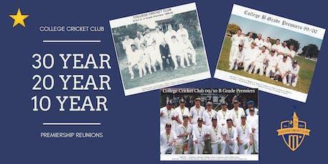 College Cricket Club Premiership Reunions tickets