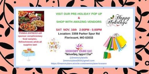Pre-Holiday Pop Up & Shop!