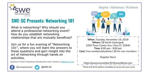 SWE-SC Presents: Networking 101