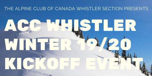 ACC Whistler Winter 19/20 Kickoff Event