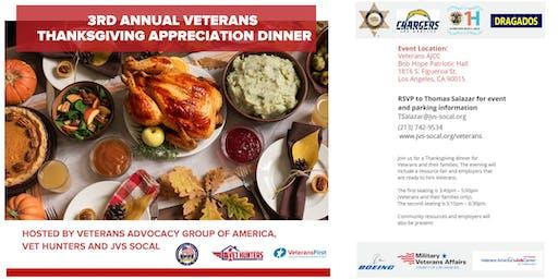 3rd Annual Veterans Thanksgiving Appreciation Dinner 2019