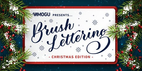 Christmas Brush Lettering tickets