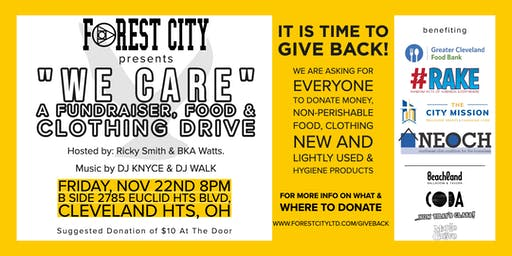 """""""We Care"""" A Food & Clothing Drive"""