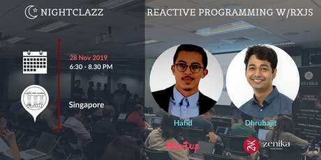 Let's explore Reactive Programming with RxJS | NightClazz tickets