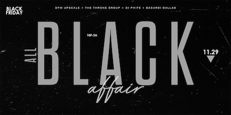 3rd Annual All Black Affair @ The House of Blues {Foundation Room} tickets
