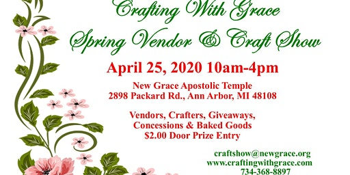 Crafting with Grace Spring Vendor & Craft Show