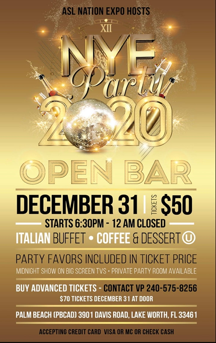 ASL Nation Expo Presents New Year's Eve Party 2020 in Florida!! image