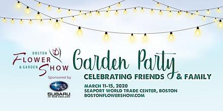 Boston Flower & Garden Show tickets