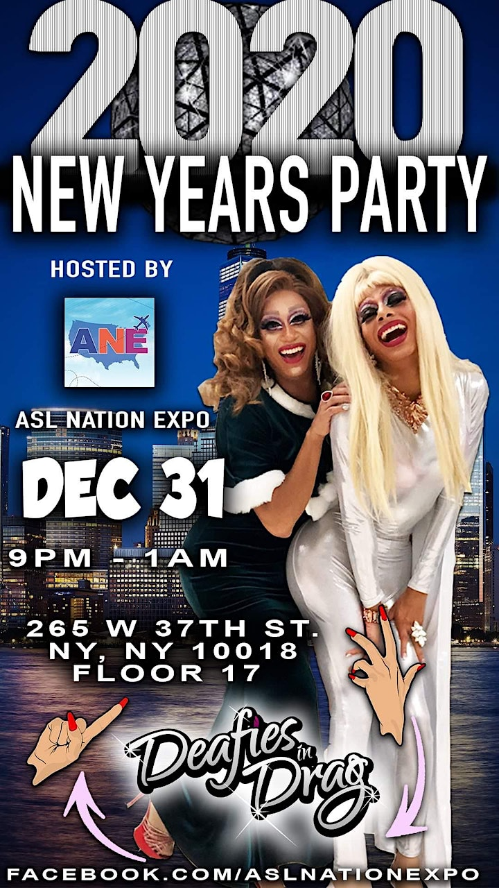 ASL Nation Expo presents New Years's Eve Party 2020 in New York ! image