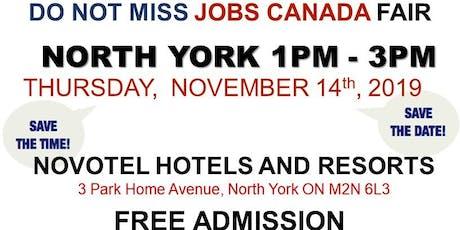 FREE: North York Job Fair – November 14th, 2019 tickets