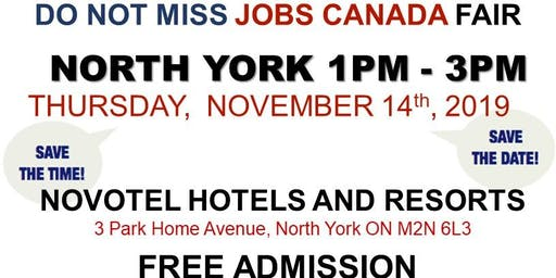 FREE: North York Job Fair – November 14th, 2019