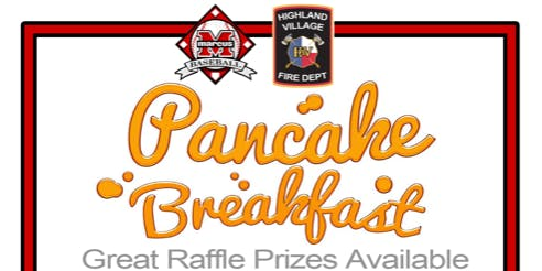Pancake Breakfast with Marcus Baseball & Highland Village Firefighters