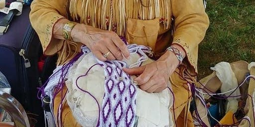 Traditional Native American Finger Weaving