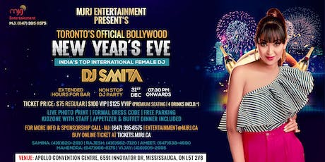 New Year's Eve NYE 2020 - Toronto's Official Bollywood DJ Event with DJ Smita tickets