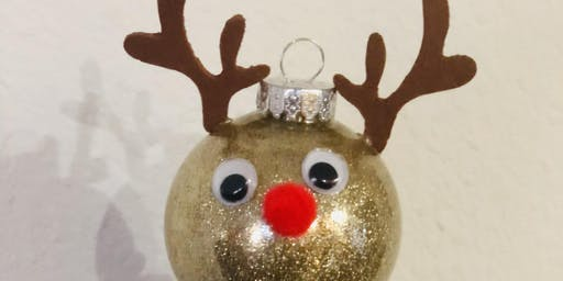 DIY Reindeer Ornament Craft Night