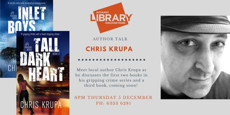 Author talk: Bathurst crime writer Chris Krupa tickets