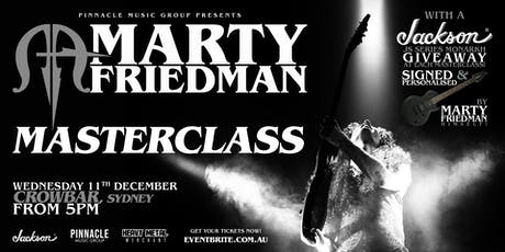 Marty Friedman MASTERCLASS - Sydney tickets