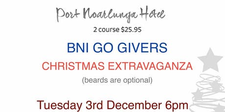 BNI Go Givers Xmas Extravaganza tickets