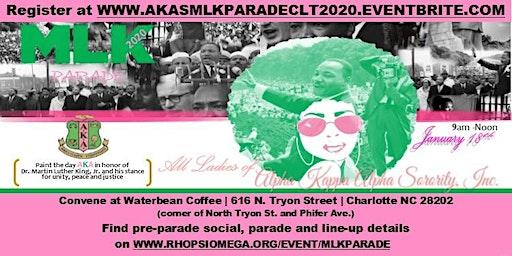 "MLK Parade 2020 CLT - Alpha Kappa Alpha Sorority, Inc. ""Paint the Day AKA"""