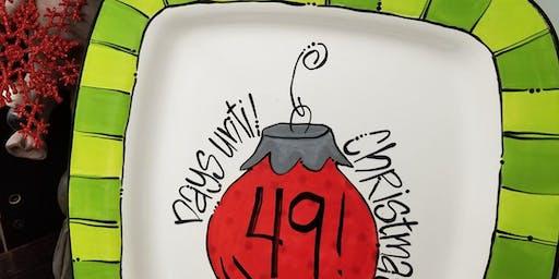 Christmas Countdown Plate