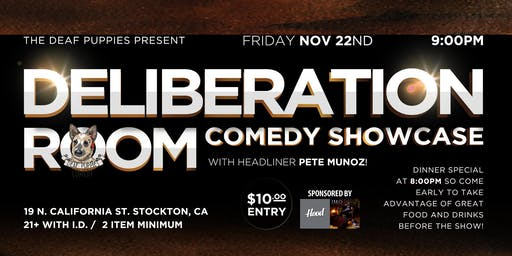 Deliberation Room Farewell Show starring Pete Munoz!