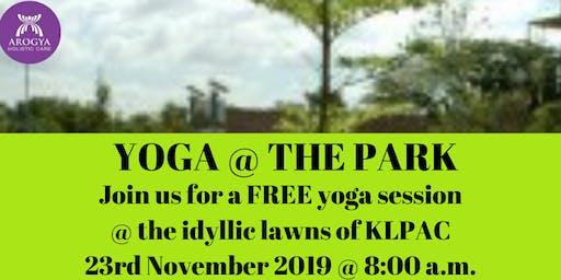FREE Yoga@thePark at KLPAC on 23rd November 2019