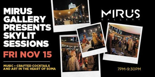 """Skylit Sessions: Chazme: Solo Exhibition """"One Day in Funkypolis"""" Rooftop Party at Mirus Gallery"""