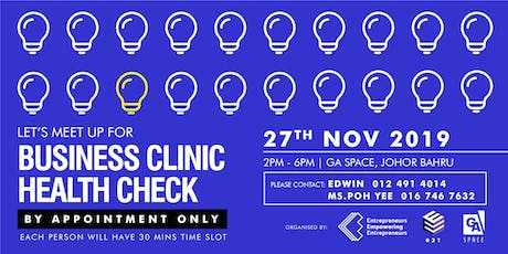 Business Clinic Health-check tickets