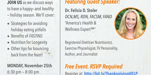 Thanksgiving Preparation & Recovery - Fasting Seminar - Weight Loss and So Much More!