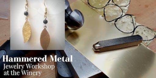 Hammered Metal Jewelry Workshop