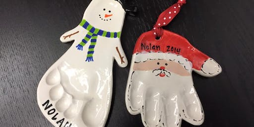 Foot and Hand Print Ornaments