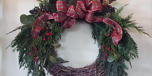 Holiday Wreath making at Sky River Mead