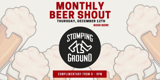 Free Beer Shout w/ Stomping Ground
