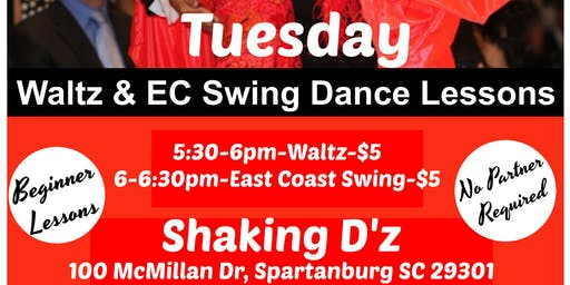 Waltz and East Coast Swing Dance Lessons