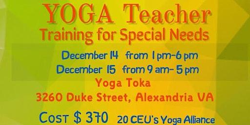 Yoga Teacher Training for Special Needs -20 CEU's