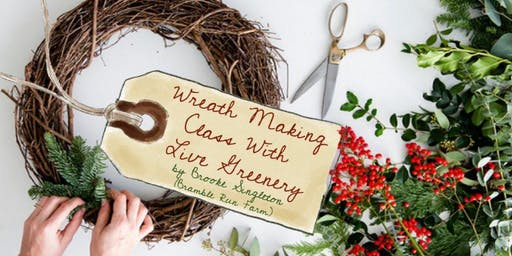 Wreath Making Class (live greenery) - Christmas at The Village