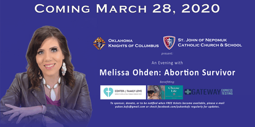 An Evening with Melissa Ohden: Abortion Survivor
