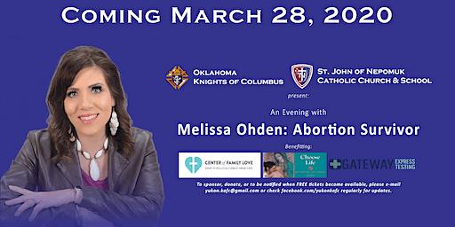 An Evening with Melissa Ohden: Abortion Survivor