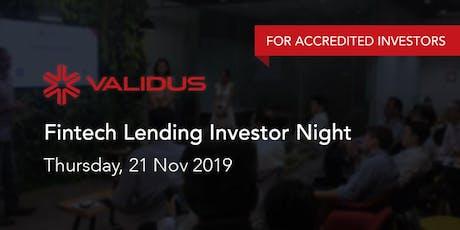 Validus Fintech Lending Investor Night tickets