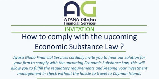 How to comply with the upcoming Economic Substance Law?
