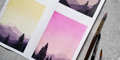 Mountain Silhouette Watercolor Workshop