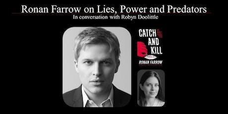 Ronan Farrow on Lies, Power and Predators tickets