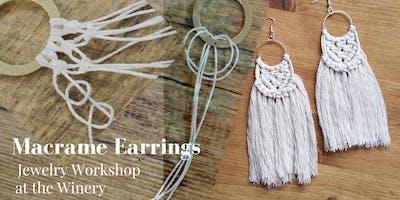 Macrame Earrings Jewelry Workshop