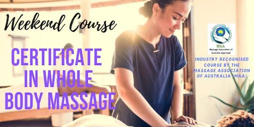 Certificate in Full Body Massage in Mackay