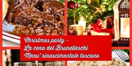 Christmas party- La cena del Brunelleschi-Menu' rinascimentale toscano
